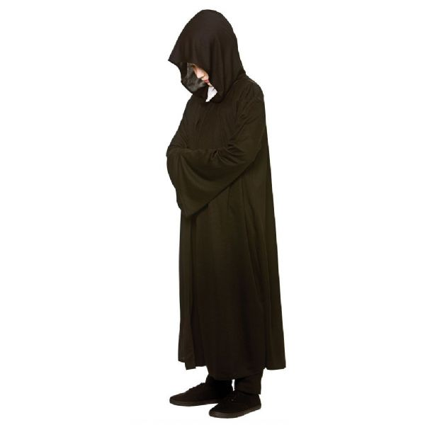 Boys Jedi Hooded Robe Costume for Star Wars Space Rogue Hero Fancy Dress